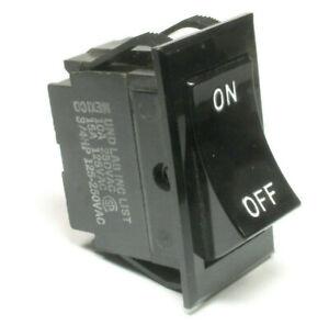 1pc Carling Rocker Switch SPST 10A @ 250VAC, 15A @ 125VAC, 3/4 HP 250VAC, ON/OFF