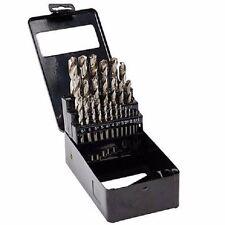 BizLine HIGH SPEED STEEL DRILL BIT SET HSSDSM25 1mm To 13mm x0.5mm 25Pieces