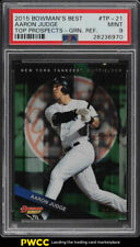 2015 Bowman's Best Top Green Refractor Aaron Judge ROOKIE RC /99 PSA 9 MT (PWCC)