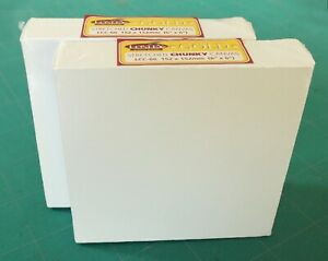 """2 X LOXLEY GOLD STRETCHED CHUNKY DEEP FRAME BOX CANVAS 152 X 152 X 36MM 6"""" X 6"""""""