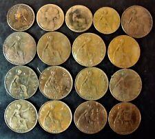 Royaume-Uni Victoria Edouard VII George V 17 monnaies avec 3 FAUTEES + Cadeau