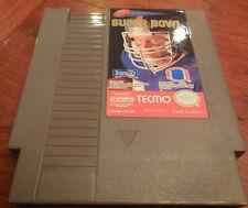 TECMO Super Bowl ( NES, 1991) GAME & BOX