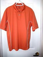 PGA Tour Casual Knit Polo/Golf Shirt-size L, burnt orange/white piping