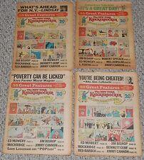 Archie Comic Strip New York Knickerbocker #1 2 3 4 Newspaper Lot 1968 Silver Age