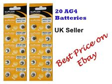 AG4 x20 SR626SW,377LR6261.5vALKALINE BUTTON/COIN CELL WATCH BATTERIES/BATTERY
