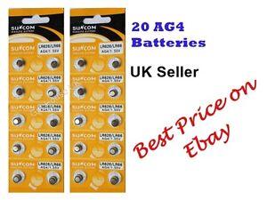 AG4 x20 SR626SW,377LR6261.5vALKALINE BUTTON/COIN CELL WATCH BATTERIES/BATTERY