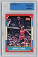 Michael Jordan 1986-87 Fleer #57 Rookie RC Chicago Bulls BGS Authentic