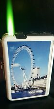 London eye double   Ejection Cigarette Lighter Case Box Windproof Jet Flame