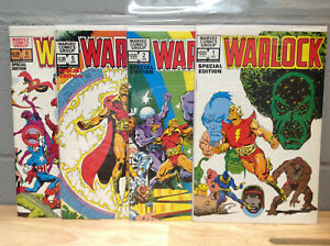 WARLOCK SPECIAL EDITION LOT OF 4 #1,2,5,6 VG/F CONDITION MARVEL COMICS