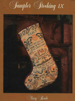 Mary Beale - SAMPLER STOCKING IX - Christmas 3 Kings Bible Story, c1989, OOP