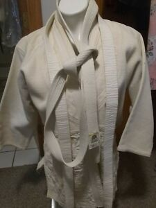 Vintage 1970s Lion Brand Judo Uniform Outfit Quilted Made in Japan Rare