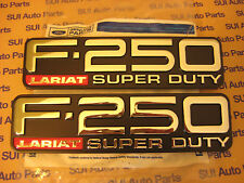 Ford F250 F-250 Super Duty Lariat LH and RH Fender Emblems Badges 1999-2004