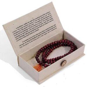 Rosewood Meditation Mallah Beads With Himalyan Lokta Paper Box