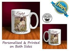 English Springer Spaniel Personalised Ceramic Mug: Perfect Gift. (D055)