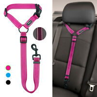 Reflective Safety Pet Dog Car Seat Belt Restraint Leash Nylon Dog Leash Travel