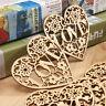 10PCS Wooden Shape Love Heart Wedding Hanging Decoration Craft EmbellishmentHGUK