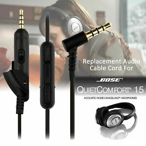 Replacement Cable Bose QuietComfort QC15 and QC2 with Mic