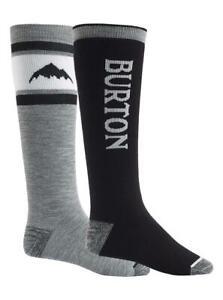 Burton Mens Weekend Midweight Snowboard Socks 2Pk True Black