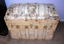 Antique Shabby Chic Darling Dome Top Chest Trunk Roses