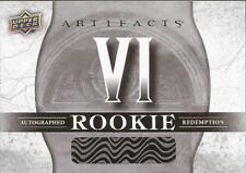2017-18 UD Artifacts Rookie Autograph Redemtpion VI To Be Determined RARE