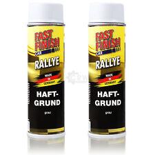 2x Fast Finish Car Rallye Primer Grey Spray Can 500ml Care 9TS
