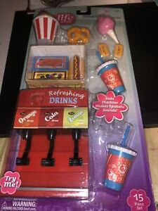 My Life As All American Girl Doll Movie Theater Play Set, Fountain Soda * NEW *
