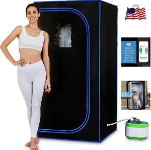 🔥Pyle SLISAU35BK Portable Personal In-Home Detox Spa Steam Therapy Heated Sauna