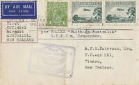 AFC123) First official airmail cover Australia – New Zealand 10 April 1934