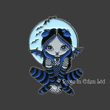 A Little Batty Goth Strangeling Fairy Metal Pin Badge By Jasmine Becket-Griffith