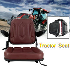 Lawn Garden Tractor Seat Waterproof Forklift Seat With Sliding Track Armrest Us