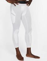 Nike Men's White Dry 3/4 Basketball Tights Size L 10816