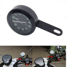 Motorcycle 6mm ATV Quad Dial Clock Handlebar Brake Clutch Mount Watch For Harley