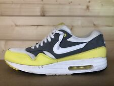 Nike Air Max 1 Essential Cool Grey Yellow 537383-111 size 11 (UK)