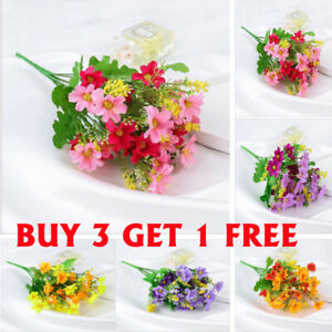 28 Head Artifical Plastic Chrysanthemum  Wedding Party Home Decor Silk Flower