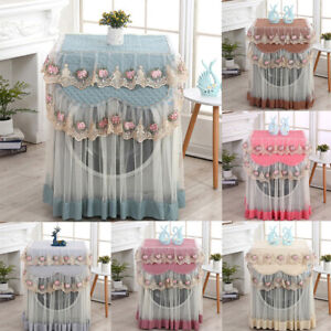Washing Machine Cover 60*60*85cm Home Washer Washable Protector Lace RuffleS FD