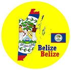 Belice - Mapa / Bandera - Redondo RECUERDO Imán de NEVERA - NUEVO - Regalo