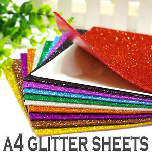 FINE GLITTER FABRIC A4 SHEETS SPARKLE MATERIAL CRAFTS SHIMMER HAIR BOWS UK