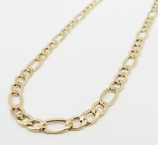 """10K Gold Yellow Figaro Chain 22"""" 5.2mm wide 8.1 Grams"""