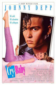 Cry-Baby (1990) original movie poster - single-sided - folded