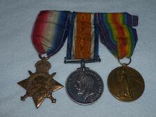 VINTAGE WW1 SILVER BRITISH WAR VICTORY BRONZE 1914 STAR MEDAL LOT SET NAMED 1919
