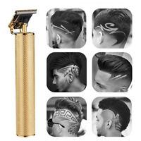Men Electric Cordless Hair Clipper T-Blade Trimmer Hair Cutter Barber Shaver Kit