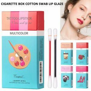 Stain Set Cigarette Cotton Swab Lipstick Non-Stick Long-Lasting Tattoo Lipstick
