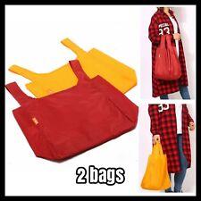 2Pcs Foldable Shopping Bags Reusable Eco Grocery Bag Storage Handbags AU