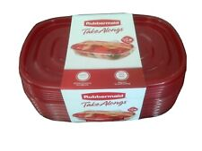 Rubbermaid TakeAlongs Rectangle Food Storage Container, 4 Cup, Red
