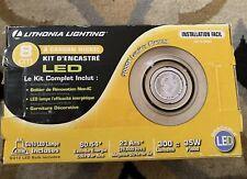 "Lithonia Lighting 3"" Recessed Kit LED brush Aluminun"