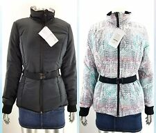 FABLETICS Medusa Reversible Black Belted Puffer Coat Jacket size XS X-SMALL