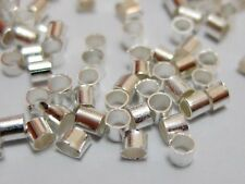 2000pcs Brass Crimp End Tube Stopper Beads 2mm Jewelry Making Color Choice