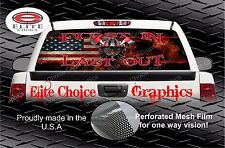 Wicked First In Firefighter Flag Rear Window Graphic Decal Sticker Truck SUV