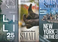 Lot of 3 Smithsonian Magazine On Places New York Best Small Towns Bucket List