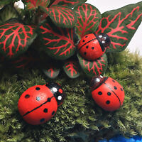 10 x Hanging Decorative Ladybirds Garden Wall Ornament Home Outdoor   RDNH